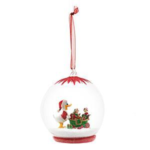 Disneyland Paris -Donald mit Schlitten Weihnachtsbaumkugel