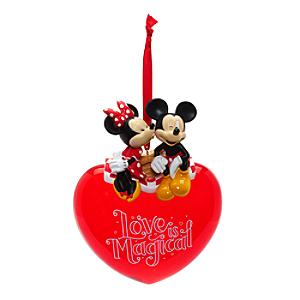 Mickey and Minnie Mouse Love Hanging Ornament - Ornament Gifts