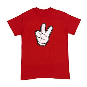 Mickey Mouse Glove Customisable T-Shirt For Adults