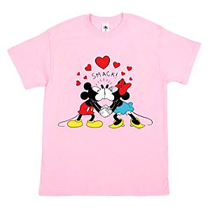 Mickey and Minnie Kiss Customisable T-Shirt For Kids