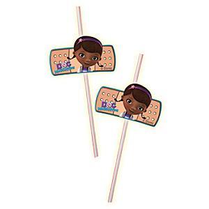 Doc McStuffins Bendy Straws, Set of 6 - Doc Mcstuffins Gifts