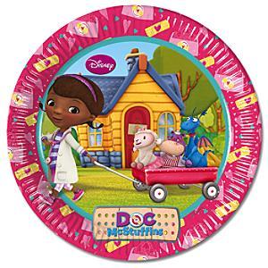 Doc McStuffins 23cm Party Plates, Set of 8 - Doc Mcstuffins Gifts