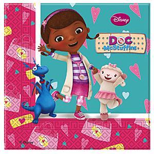 Doc McStuffins Party Napkins, Pack of 20 - Doc Mcstuffins Gifts