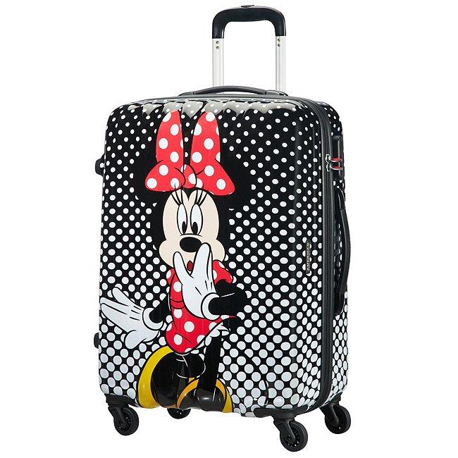 American Tourister Bagage à roulettes Minnie à pois, moyen format