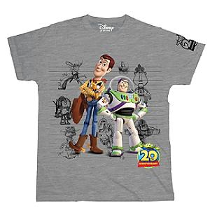 Buzz Lightyear and Woody Grey T-Shirt For Adults, Toy Story 20th Anniversary - Buzz Lightyear Gifts