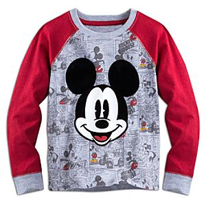 Camiseta infantil manga larga Mickey Mouse
