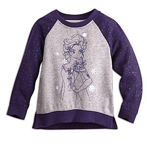 Elsa glittrig fleecetröja, Frost