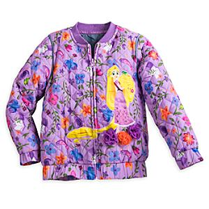 Rapunzel Quilted Jacket For Kids, Tangled: The Series -  3 Years - Rapunzel Gifts
