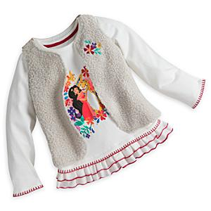 Elena of Avalor Gilet and Long Sleeve Top Set For Kids -  5-6 Years - Elena Of Avalor Gifts