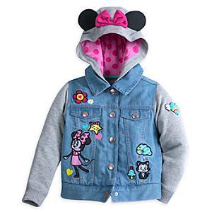 Chaqueta infantil con capucha de Minnie