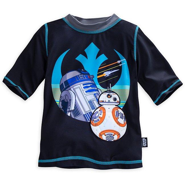 T-shirt de bain R2-D2 et BB-8 pour enfants, Star Wars: Le Réveil de la Force
